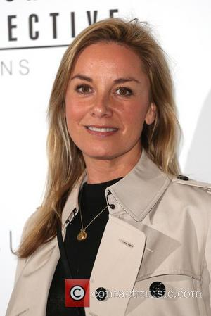 Tamzin Outhwaite - London Fashion Week Spring/Summer 2015 - Design Collective for Evans - Arrivals - London, United Kingdom -...