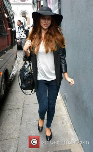 Una Healy - The Saturdays hang-out with their fans outside The Olympia Theatre ahead of their Greatest Hits Tour concert...
