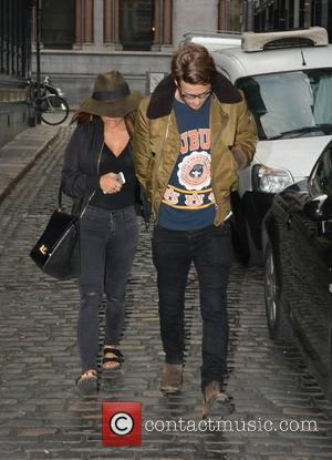 Vanessa White and Gary Salter - The Saturdays' Vanessa White arrives at The Olympia Theatre with boyfriend Gary Salter, Dublin,...