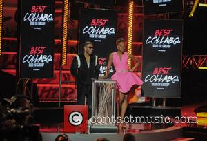 Nelly and Erica Ash - A variety of hip hop stars attnded the 2014 BET Hip Hop Awards Show in...