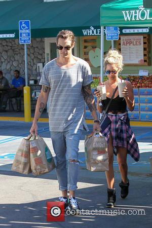 Ashley Tisdale and Christopher French - Ashley Tisdale and Christopher French shopping at Whole Foods - Los Angeles, California, United...