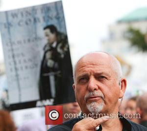 Peter Gabriel - Photo's from the Peoples Climate March, a march to put pressure on the UK government and corporations...