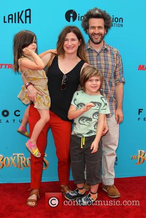 Kathryn Hahn, Ethan Sandler, Leonard Sandler and Mae Sandler - Stars of the new animated, adventure comedy 'The Boxtrolls' were...