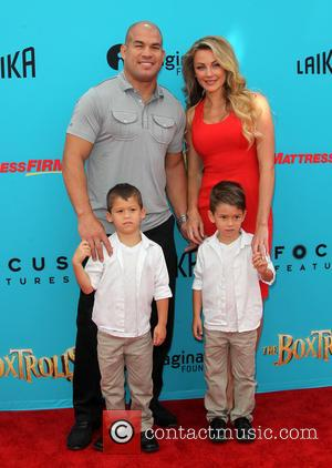 Tito Ortiz, Kristin Ortiz, Journey Jette Ortiz and Jacob Ortiz - Stars of the new animated, adventure comedy 'The Boxtrolls'...
