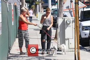 Mena Suvari - Mena Suvari meets up with a friend and her dogs - Los Angeles, California, United States -...