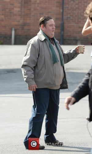 Johnny Vegas - Shots from the set of the sequel to the BBC's sitcom 'Open All Hours' being filmed in...