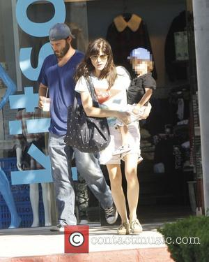 Selma Blair and Arthur Bleick - Selma Blair carries her son Arthur Bleick as they go shopping at Kitson -...
