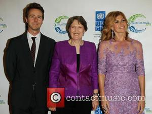 Edward Norton, Helen Clark and Connie Britton