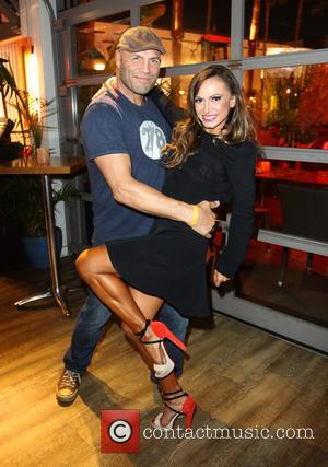 Randy Couture and Karina Smirnoff - 'The celebs from the hit TV show 'Dancing with the Stars' photographed at a...