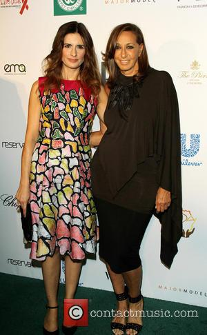 Donna karen and Livia Firth - Fashion 4 Development presents the First Ladies Luncheon in New York, New York, United...