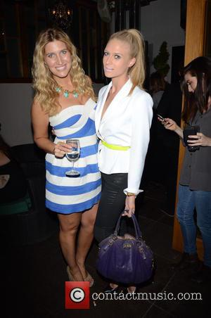 FRANCESCA HULL and B McCormick Andrews - Union J fragrance launch party - Inside - London, United Kingdom - Wednesday...