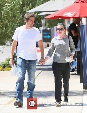 Alyson Hannigan and Alexis Denisof - American actress Alyson Hannigan who starred in the teen movie series 'American Pie' spotted...