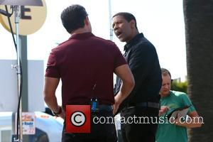 Denzel Washington and Mario Lopez