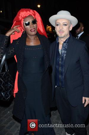 Boy George and Grace Jones - Snaps of guests including Boy George at the modern Italian restaurant and bar Gigi's...