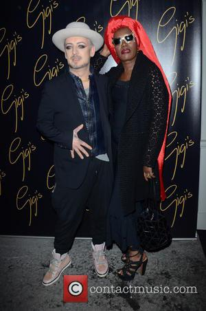 Boy George and Grace Jones