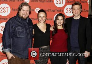 Michael Chernus, Tracee Chimo, America Ferrera and Austin Lysy - Photographs from the second stage theater as stars arrived at...