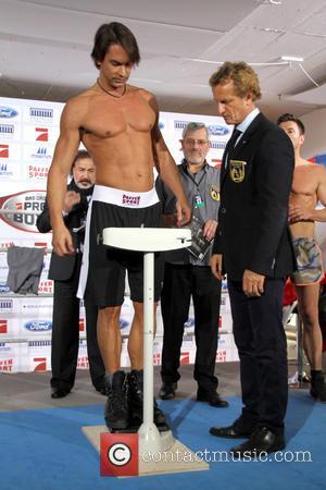 Marcus Schenkenberg - 'Das grosse Pro Sieben Promiboxen 2014' weigh-in and press conference at Sportarena - Duesseldorf, Germany - Thursday...