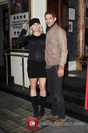 Kimberly Wyatt and Max Rogers - The opening of the National Theatre's production of Great Britain at the Theatre Royal...