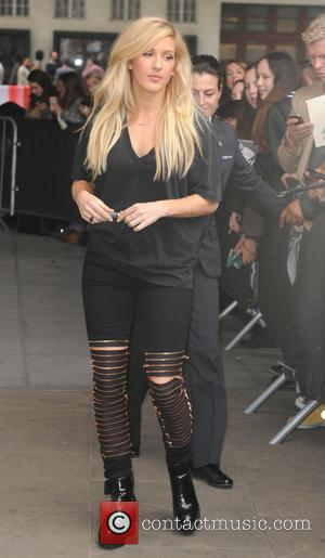 Ellie Goulding - Ellie Goulding spotted leaving BBC Radio 1 to go shopping and meet her boyfriend - London, United...