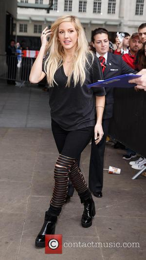 Ellie Goulding - Celebrities at BBC Radio 1 at BBC Portland Place - London, United Kingdom - Friday 26th September...