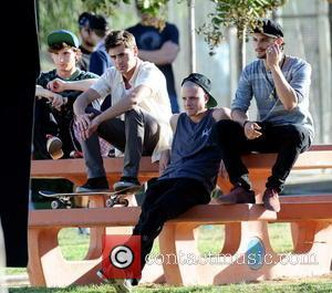 Zac Efron, Shiloh Fernandez, Jonny Weston and Alex Shaffer - Actor Zac Efron filming a scene for his new movie...