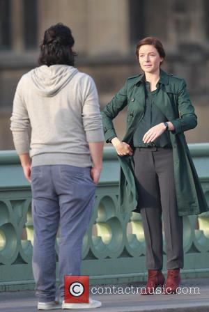 Rebecca Ferguson - Shots from the set of the new 'Mission: Impossible 5' movie on location in London, United Kingdom...