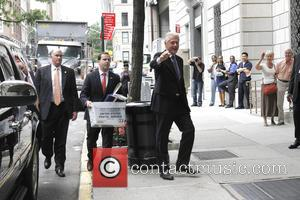 Bill Clinton - Chelsea Clinton leaves hospital with new baby - New York City, United States - Monday 29th September...