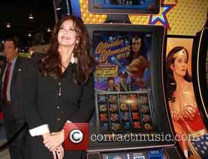 American actress and star of the 1970' series of Wonder Woman Lynda Carter unveiled the Bally Technologies 'Wonder Woman' slot...
