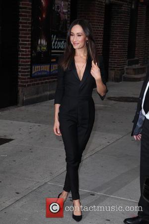 Maggie Q - Late Show with David Letterman at Ed Sullivan Theater - New York City, New York, United States...