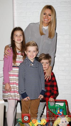 Tess Daly, Roman, Sebastian and Megan