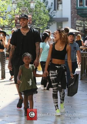 Chris Brown and Karrueche Tran - Chris Brown at The Grove at The Grove - Los Angeles, California, United States...