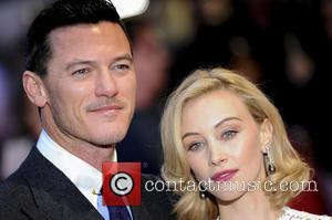 Luke Evans and Sarah Gadon - Dracula Untold Premiere in Leicester Square. - London, United Kingdom - Wednesday 1st October...