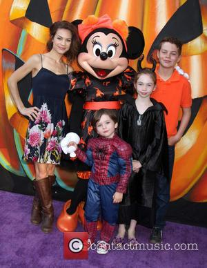 Rebecca Herbst, Ella Bailey Saucedo, Ethan Riley Saucedo, Emerson Truett Saucedo and Minnie Mouse - A variety of stars and...