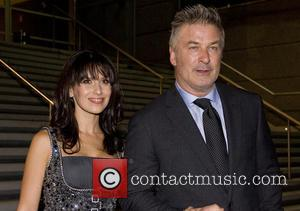 Alec Baldwin and Hilaria Thomas - Alec Baldwin and his wife attend the premiere of 'Torrente May' - Madrid, Spain...