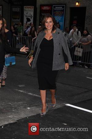 Mariska Hargitay - Late Show with David Letterman at Ed Sullivan Theater - New York City, New York, United States...