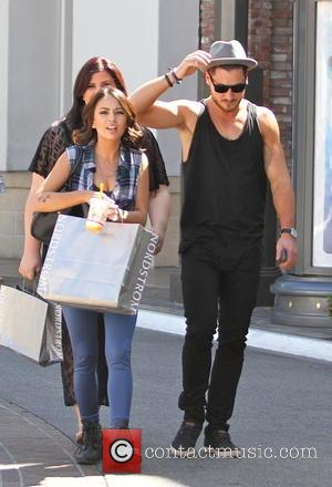 Janel Parrish and Val Chmerkovskiy - 'Dancing with the Stars' partners Janel Parrish and Val Chmerkovskiy go shopping - Los...