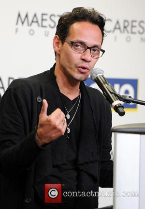 Marc Anthony - Marc Anthony presents a check to the Maestro Cares Foundation - Miami Beach, Florida, United States -...