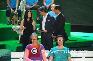 Megan Fox, Markus Lanz and Will Arnett - Shots from German Entertainment TV show 'Wetten, dass..?' held at Messehalle (which...