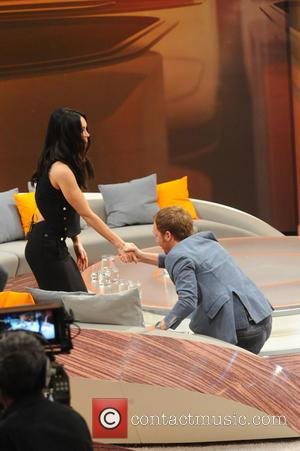 Megan Fox and Ralf Schmitz - Shots from German Entertainment TV show 'Wetten, dass..?' held at Messehalle (which translates to...