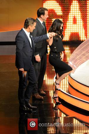 Megan Fox, Will Arnett and Markus Lanz