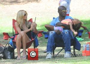 Heidi Klum, Seal and Lou Samuel