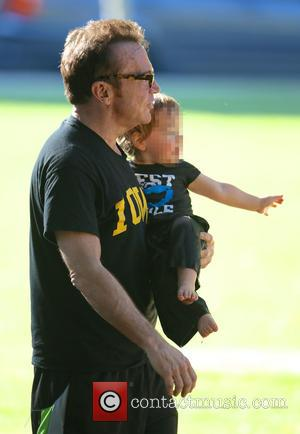 Tom Arnold - American comedian and actor Tom Arnold seen out in the park with actor and comedian Breckin Meyer...