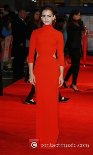 Lily Collins - 'Love, Rosie' world premiere at Odeon West End - London, United Kingdom - Monday 6th October 2014