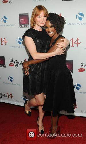 Shanola Hampton and Alicia Witt - Les Girls 14 Cabaret Benefit - Arrivals at Avalon - Hollywood, California, United States...