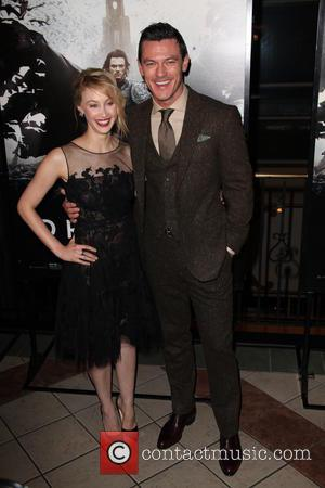 Sarah Gadon and Luke Evans - New York premiere of 'Dracula Untold' - New York City, United States - Monday...