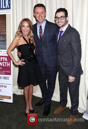 Kristin Chenoweth, Andrew Lippa and Noah Himmelstein - 'I Am Harvey Milk' - After party at Bryant Park Grill,, Bryant...