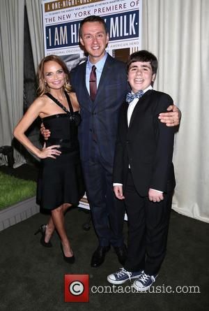 Kristin Chenoweth, Andrew Lippa and Noah Marlowe - 'I Am Harvey Milk' - After party at Bryant Park Grill,, Bryant...