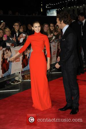 Lily Collins and Sam Clafin - 'Love, Rosie' world premiere at Odeon West End - London, United Kingdom - Monday...