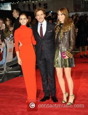 Lily Collins, Sam Clafin and Suki Waterhouse - 'Love, Rosie' world premiere at Odeon West End - London, United Kingdom...