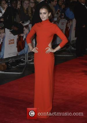 Lily Collins - World premiere of 'Love, Rosie' at Leicester Sqaure, Odeon West End - London, United Kingdom - Monday...